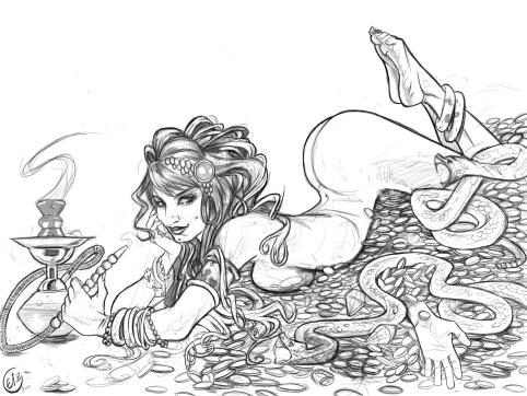Snake Girl by the über talented Leila Leiz!