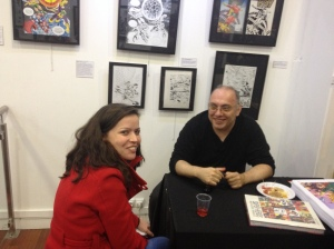 Xavier Fournier, at the release party of his book, early november @ Galerie Carole Kavsnieski in Paris.