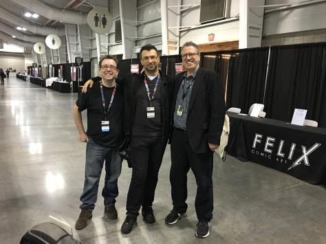 Right after the show, we had a moment with Danny Fingeroth and Arie Kaplan, my all-star team for Jewish Comic Con!